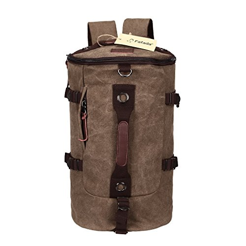 Imagen de fafada bolso  lona saco de viaje bolsa de viaje bolsa de deporte bolsa de libros cartera escolar marr¨®n alternativa