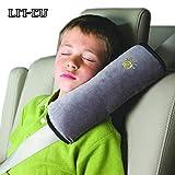 Cuscino di protezione per cintura di sicurezza per seggioloni auto bambini, cuscino morbido e confortevole ideato come supporto per la testa, ideale per seggioloni non reclinabili(nero)