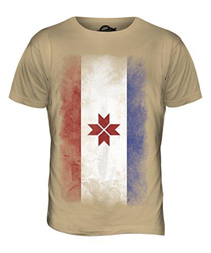 CandyMix Mordwinien Verblichen Flagge Herren T Shirt Sand