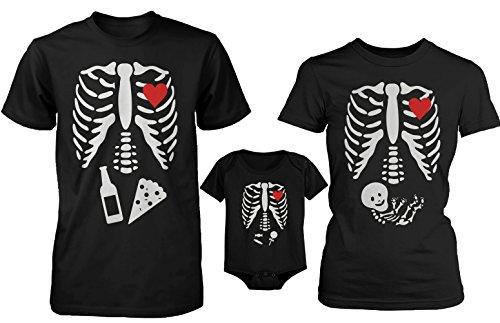 Camiseta Divertida de Halloween X-Ray y Camisetas de la Familia Onesie