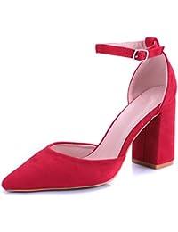 donna Rosso Fuoco Mary Jane Dcollet sandalo con cinturino alla caviglia