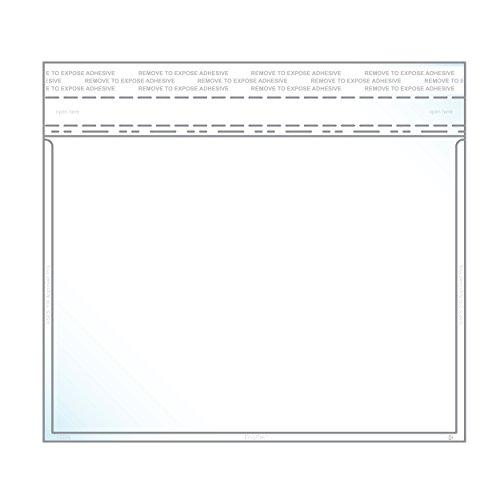 14x 19,1cm Foto & Postkarte Umschlag Crystal Clear, permanent Klebeband (12,7cm X 7& # X2033; Einsatz Größe) ideal für Einladungen & announcments-Box von 500