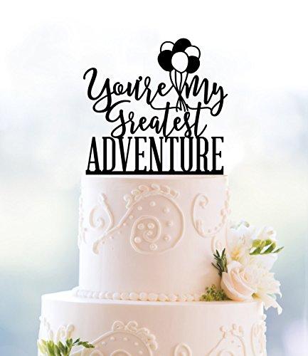 (qidushop Greatest Adventure bis Themed Hochzeit bis Film Ballon Tortenaufsatz für Hochzeit Jahrestag Geschenke Hochzeit Partyzubehör Kuchen Topper)