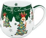 Teetasse Kaffeebecher Kaffeetasse Kuschelbecher Merry Christmas (Weihnachtselch)
