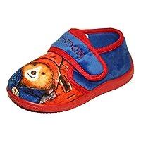 Boys Paddington Bear Marmalade London Blue/Red Slip On Slippers Shoes Toddler Children Size UK 5-10