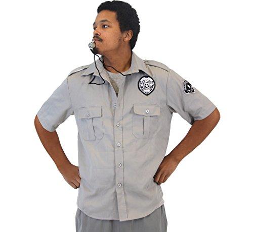 Kostüm Whistle - Friday After Next Top Flight Security Hemd and Whistle Kostüm Set (L/XL)