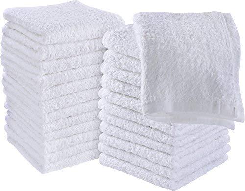 Utopia Towels - 24er Set Seiftücher, 30x30 cm, Washclappen aus 100% Baumwolle, 600g/qm, weiß
