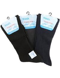 6 Pairs Mens Fresh Feel Non Elastic Socks 6-11 UK 39-45 EUR