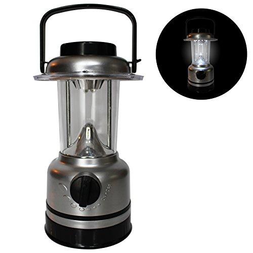 15 LED batteriebetriebene Kunststoff Camping-Licht-Lampe Taschenlampe mit Dimmschalter und Kompass von Kurtzy - Für den Gebrauch im Freien u.Drinnen-Ultra Helles Licht - 3xAA Batterien nicht enthalten (Unsere Welt Kinder Anzeigen)