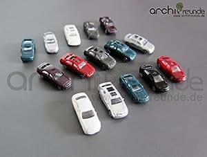 20 x Modell Autos BMW/Porsche usw. für Modellbau 1:200, Modelleisenbahn Spur Z