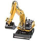 SHZJ Control Remoto Excavadora Tractor SimulacióN ConstruccióN Juguetes para NiñOs 1:16 RC Truck 11CH Coche De Control Remoto para NiñOs Regalos Juego Adulto