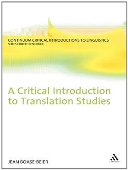 Critical Introduction to Translation Studies par [Boase-Beier, Jean]