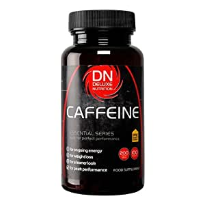 Deluxe Nutrition 200mg Caffeine Tablets - Pack of 100