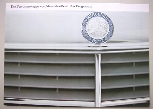 Prospekt Die Personenwagen von Mercedes-Benz Das Programm gebraucht kaufen  Wird an jeden Ort in Deutschland