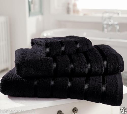 LnB Kensington mit Streifen, 100% ägyptische Baumwolle, 90x 140cm-pack (2-Stück) Schwarz