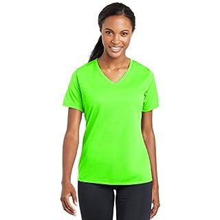 Sport Tek LST340 PosiCharge Damen-T-Shirt, RacerMesh, V-Ausschnitt Gr. XXL, neon green