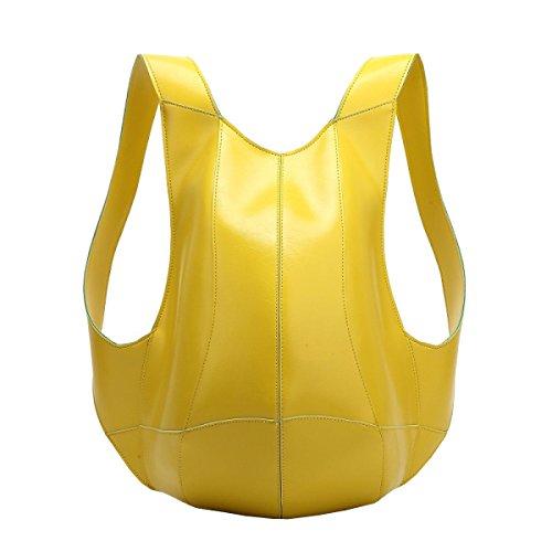 LAIDAYE Art Und Weise Der Großen Kapazität Rucksack Schultern Diebstahl Yellow