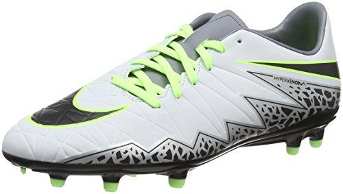 Nike Herren JR Hypervenom Phelon II FG 749896 108 Fu脽ballschuhe, 41 EU Grau (Pure platinum/black-ghost green)
