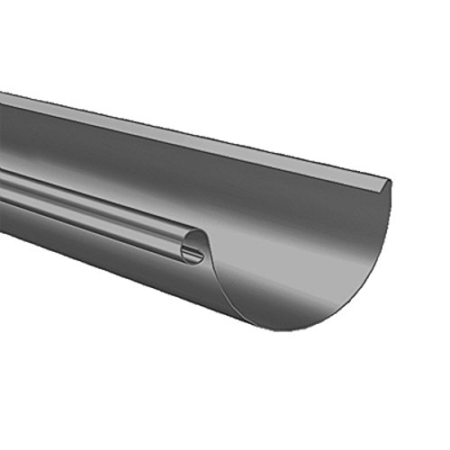 324098B completa acciaio metallo grondaia KMB zincati, soprabito. Satteldachverlängerung B-impostato 200 cm metallo, colore grigio scuro