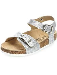 7d834b98432 Amazon.es  Plateado - Sandalias y chanclas   Zapatos para niña ...