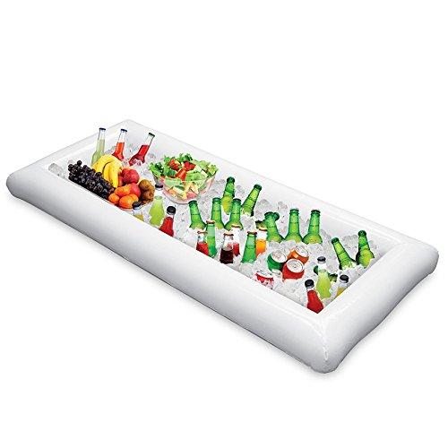 Kungfu Mall Aufblasbare Salatbar Buffet Eiseimer Outdoor Schwimmbad Dekoration Lebensmittel Zubehör mit Stecker