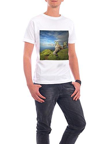"""Design T-Shirt Männer Continental Cotton """"Feeling heavy"""" - stylisches Shirt Tiere Abstrakt Fiktion von Surreal World Weiß"""