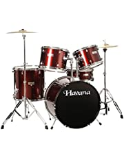 Havana Imported HV522 Acoustic Drum Set (Wine Red)