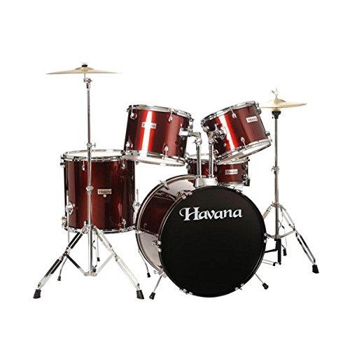 Havana HV522 Acoustic Drum Set WineRed Colour