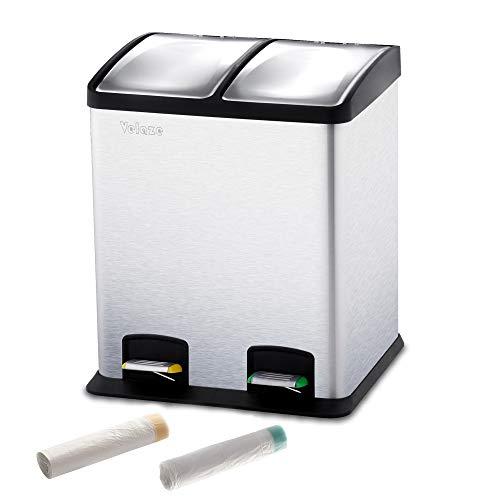 Velaze Cubos de Basura, Basureros Reciclajes de Acero Inoxidable Contenedores de Residuos para Oficina...