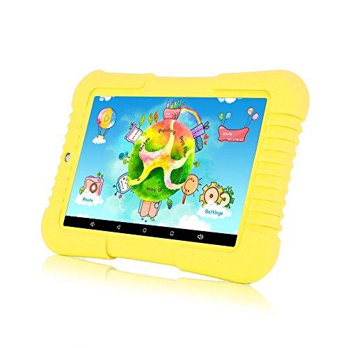 iRULU BabyPad 1 Tablet da bambini, 7 pollici di capacità 16GB, fotocamera doppia, wifi, Android 5.1 Lollipop, risoluzione 800 * 1280 multi-touch screen, Bluetooth 4.0 (Giallo)