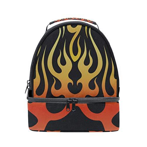 Lehrer lunchbag feuer heißes licht springen schule schulter lunchbag doppel lunchbox isolierte kühler für frauen student outdoor lunchbag für männer (Jungen-mittagessen-tasche Schultergurt)