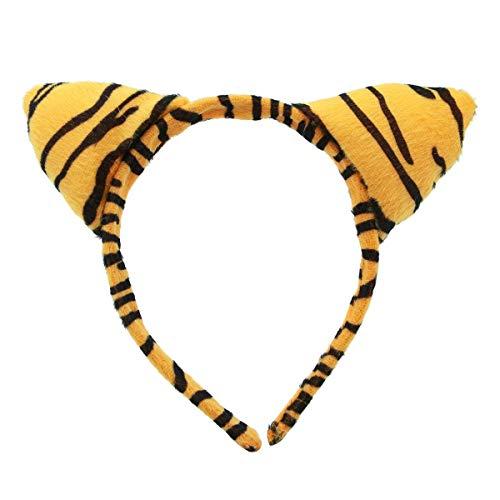 Mode Kinder Tiere Ohren Stirnband Party Cosplay Kostüm Kopfschmuck Haarband Kopfschmuck Photo Booth Props Cosplay Party Favors (Tiger)