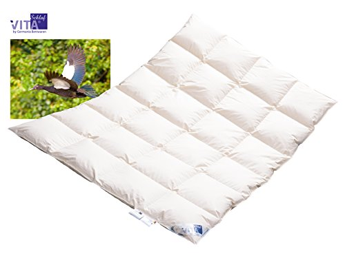Winter Daunendecke Daunenbett MEGA WARM Premium Decke WILDENTE Made in Germany since 1947 Größe (135x200cm)