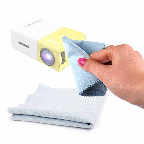 DURAGADGET Gamuza Limpiadora para Proyector Deeplee DP300, Deeplee DP36, Deeplee DP500, Deeplee DP90, Deeplee YG310W - Ideal para Mantener Su Cámara Intacta