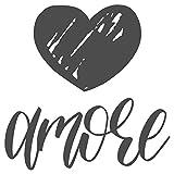 dekodino® Adesivo murale adagio amore con cuore camera da letto alveo affetto