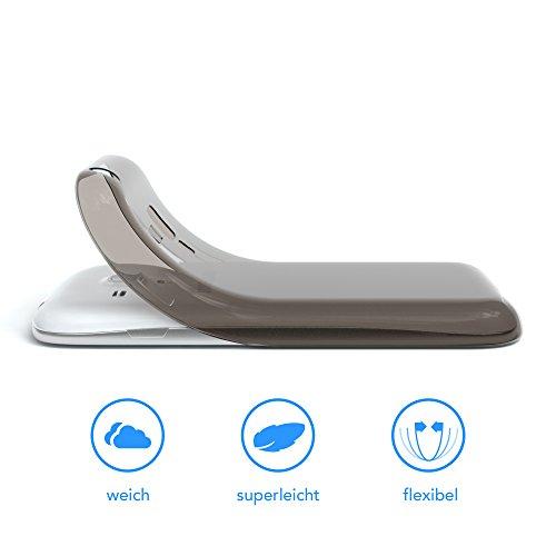 Samsung Galaxy S3 Mini Hülle - EAZY CASE Ultra Slim TPU Handyhülle - dünne Schutzhülle in Hellblau Clear Schwarz / Anthrazit