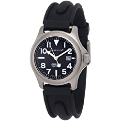 Momentum Ladies 1M-Sp01B1 Atlas Black Dial Black Slk Rubber Watch