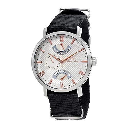 Lucien Piccard Verona Silver Dial Dual Time Mens Watch 10340-02S-RA-NS