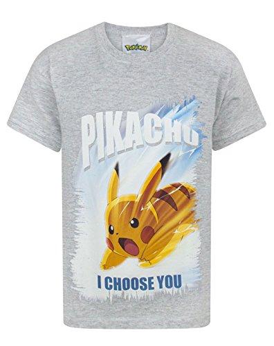 Ash Kids Shirt (Pokemon I Choose You Boy's T-Shirt (5-6 years))