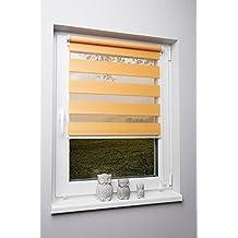 kskeskin–Estor doble Varios Tamaños Y Colores Sin Agujeros Pinza–Estor enrollable, tela, naranja, 45 x 150 cm