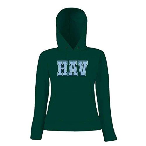 HAV Premium Hoody | Airport-Hoody | Int'l Jose Marti - Cuba | Reisen | Frauen | Kapuzenpullover © Shirt Happenz Dunkelgrün