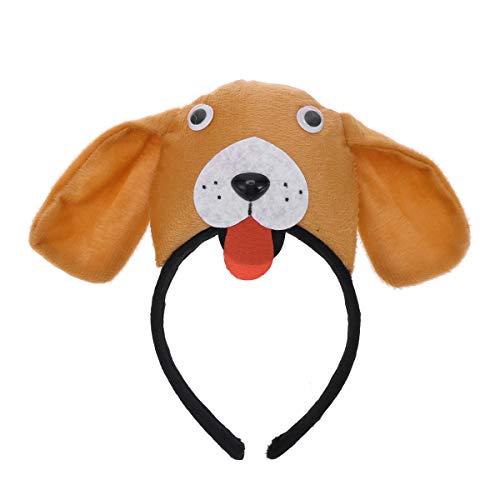 Tier Ohr Stirnbänder - Amosfun Hund Ohr Stirnband Tier Kostüm