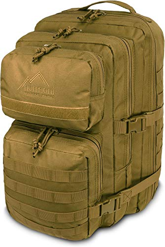 normani Kabinenrucksack geeignet als Handgepäck im Flugzeug, großer Reiserucksack mit 45 Litern Fassungsvermögen Farbe Coyote-Sand