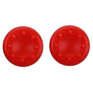 SODIAL (R) Neues Spiel Thumbstick Joystick Griff Rechtssache Cap-Abdeckung fuer PS2 PS3 Xbox 360 Controller – Rot