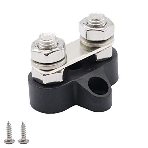 Vosarea M8 48V Dual Terminal Stud Hochleistungsverteilerblock für Auto Boot (Schwarz) -