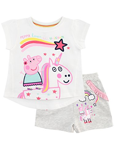 Peppa Pig Girls Unicorn Top & Shorts Set