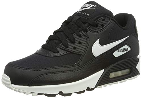 Nike Damen WMNS AIR MAX 90 Laufschuhe, Schwarz Summit White Black 060, 39 EU (Air Max Nike Frauen)