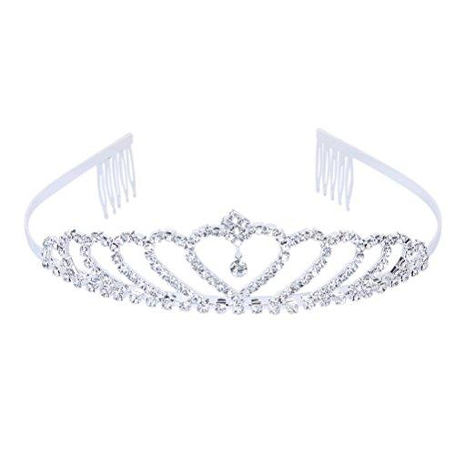 WINOMO Matrimonio Strass Nuziale Corona Principessa Tiara Cerchietto Con Pettine