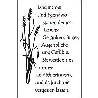 Text Deutsch Amy Design Stanzschablone Aufrichtiges Beleid