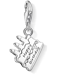 Thomas Sabo Women-Charm Pendant Cake Happy Birthday Charm Club 925 Sterling silver 1287-001-12